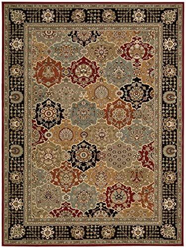 Nourison Persian Crown Black Rectangle Area Rug, 9-Feet 3-Inches by 12-Feet 9-Inches 9 3 x 12 9