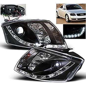ZMAUTOPARTS Audi Tt DRL LED Projector Headlight Lamp Black2Dr 2D