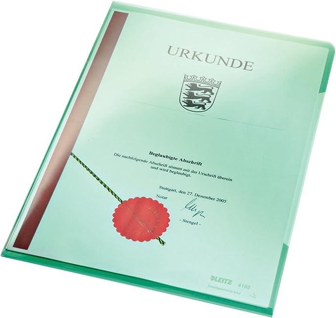 blau A4 dokumentenecht PVC Sichthülle Super Premium Leitz; #Hülle# 41530...