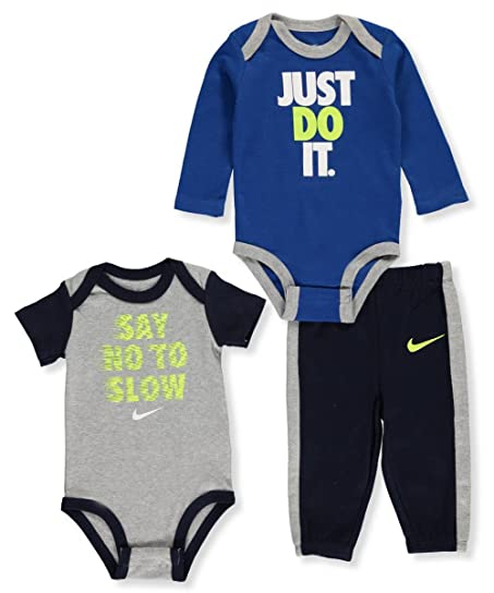 Nike Baby Boys' 3-Piece Layette Set - dark gray heather, 0 -