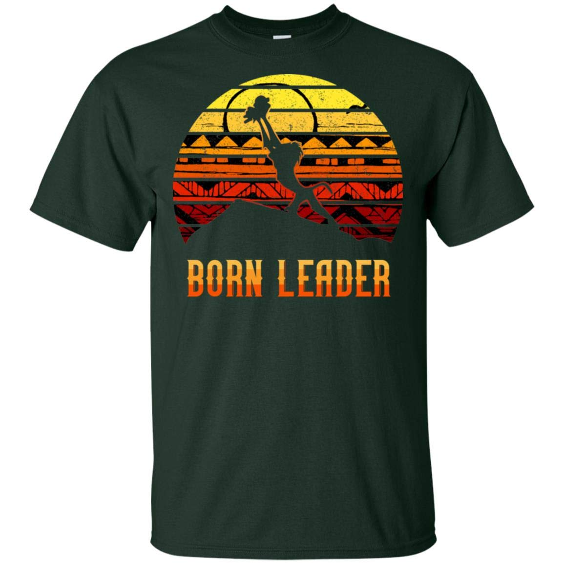 Born Leader Lion And Rafiki Vintage Retro T Shirt