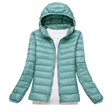 d88ffdbab Lightweight Down Jacket Women with Hood Womens Down Coats Women'S Ultra  Light Packable Down Jacket Down Filled Coat Parka Quilted Padded Hooded  Puffer ...