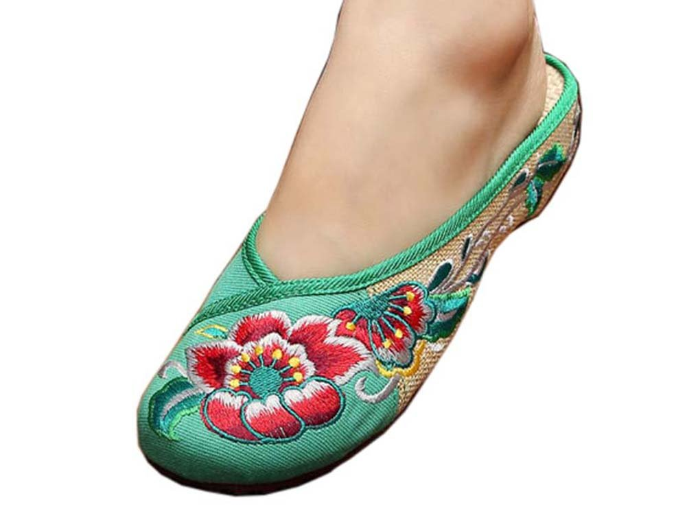 Womens Embroidered Summer Slippers Wedges Sandals Shoes for Cheongsam, 12 GJ-CLO2229582011-HERMINE02940