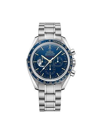 Amazon Com Omega Speedmaster Moonwatch Apollo Xvii Chronograph Blue