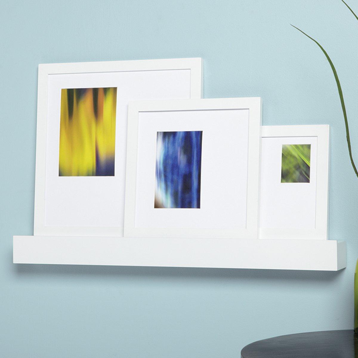 amazon com nexxt citi modern frames and wall shelf 24 inch shelf