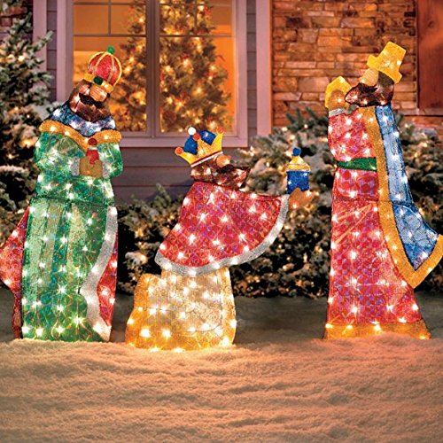 Improvements Lighted Shimmering Outdoor Nativity Set ...
