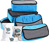Bago 5 Set Packing Cubes For Travel - Luggage & Bag Organizer - Pack Like a Pro (Blue)