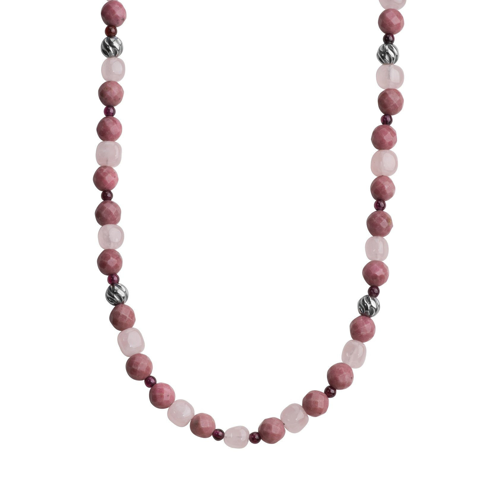 Carolyn Pollack Sterling Silver Shades of Pink Beaded Necklace, 30'' by Carolyn Pollack