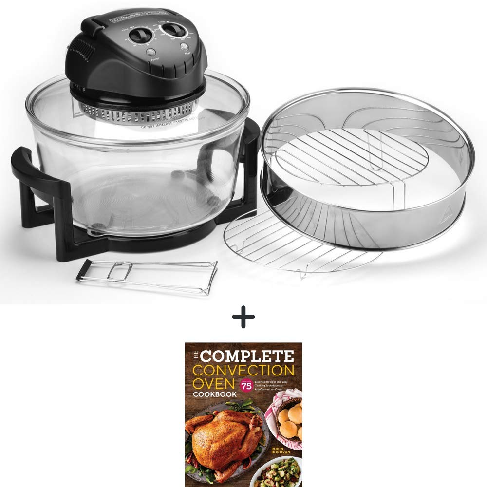 Mainstays 201519 Fast Cooking Turbo Convection Oven, 12.5 Quart with Cookbook