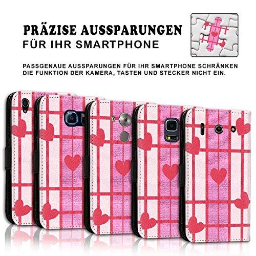 Wallet Book Style Flip Handy Tasche Case Schutz Hülle Schale Motiv Etui für Apple iPhone 6 / 6S - Design Flip MV150