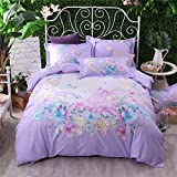 YIweNi Active printing Four piece set _cotton stamp 4 piece 13372 positioning on tabletop, mirror suit Meng ,1.5-1.8 bed with duvet cover 200230cm
