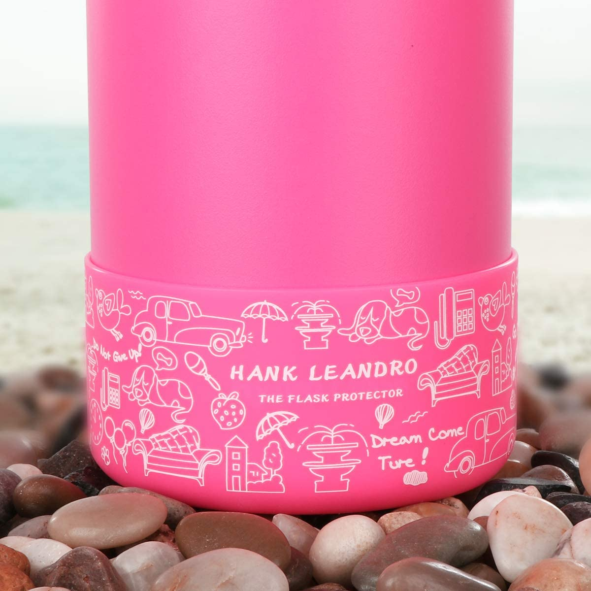 Hank Leandro Protective Silicone Boot for 32-40oz Sport Water Bottles,Anti-Slip Bottom Sleeve Cover
