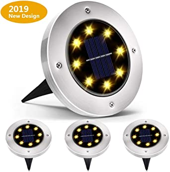 Home-Neat 8 focos LED para jardín, impermeable, luces solares para exteriores, para patio, camino, jardín, entrada, color blanco cálido (4 unidades): Amazon.es: Iluminación