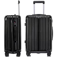Trolley Case - Universal Wheel Aluminum Frame Suitcase Unisex,black1,20""