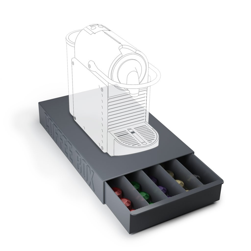 Balvi - Coffee Box storage box for coffee capsules and coffee machine stand by Balvi