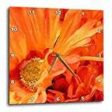 Cheap 3dRose dpp_23419_2 Bright orange Flowers Wall Clock, 13 by 13-Inch