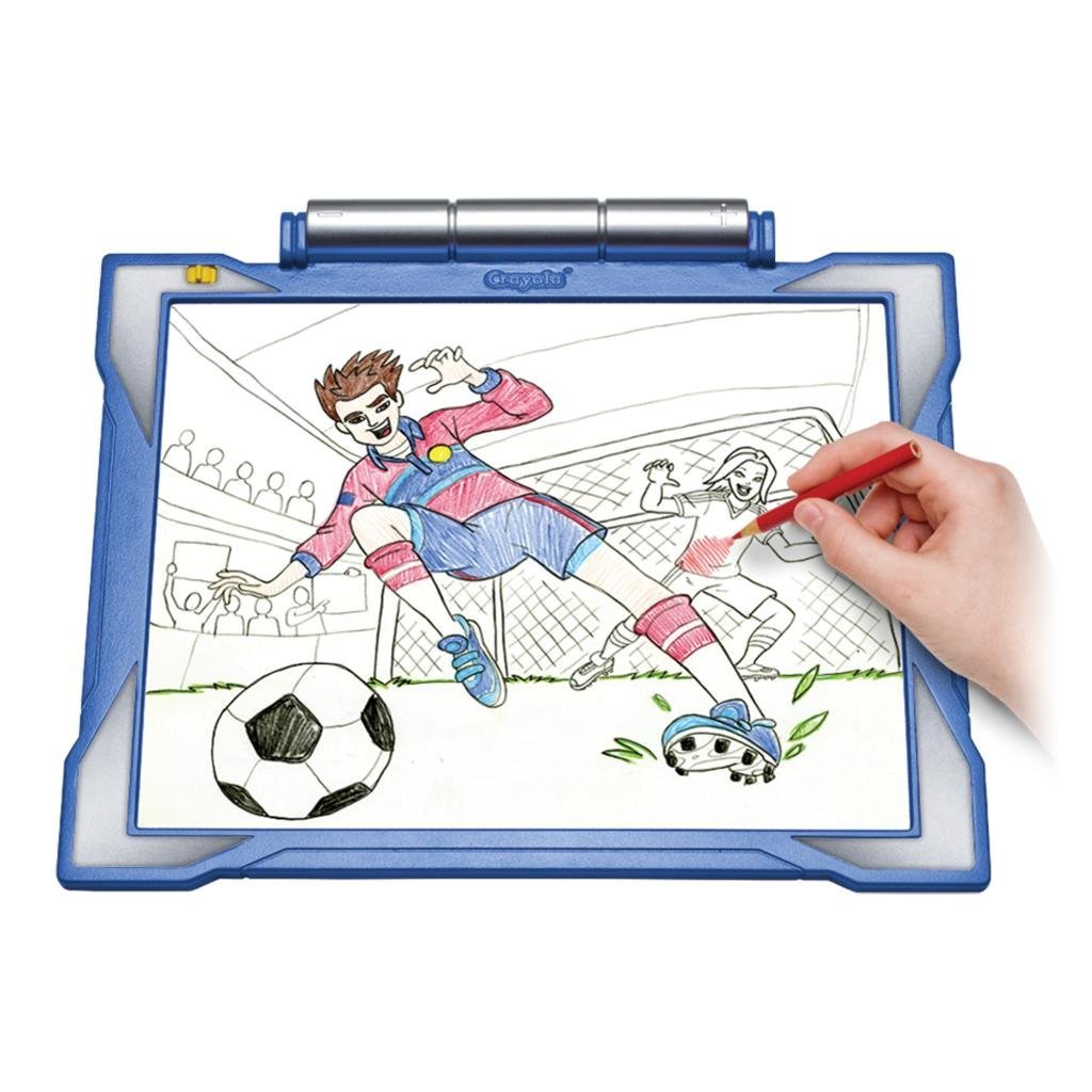 amazon com crayola light up tracing pad blue coloring board