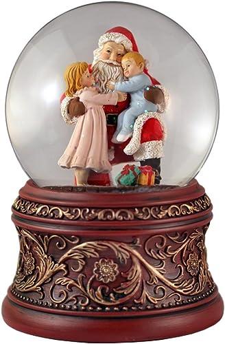 Santa with Kids Water Globe San Francisco Music Box