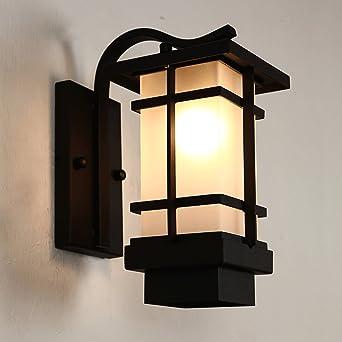 oriental outdoor lighting. Waterproof Outdoor Wall Lamp Iron Vintage Japanese-style Aisle Balcony Lights: Amazon.co.uk: Lighting Oriental D