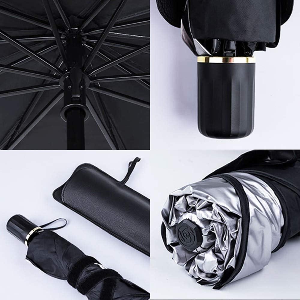 plegable protecci/ón UV SUV aislamiento t/érmico universal para coches Parasol para parabrisas delantero de coche Mantiene tu veh/ículo fresco furgonetas y camiones
