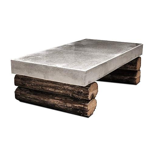 Couchtisch Aus Beton Altholz Tisch Wohnzimmer Urban Industriell