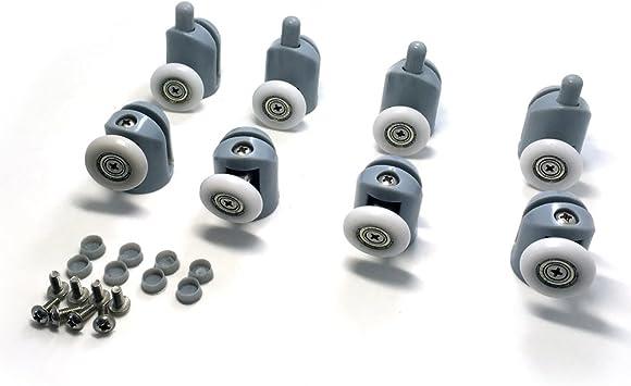 8 rodamientos para raíles de mampara de ducha, 20-27 mm.: Amazon.es: Electrónica