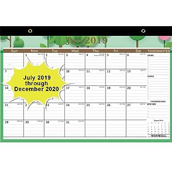 Amazon.com: Calendario de escritorio 2019-2020 – Calendario ...