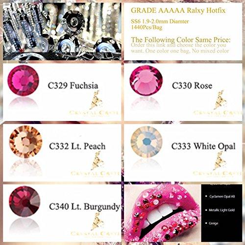 Generic C332 Lt Peach   Crystal Castle SS6 1.9-2.0mm Top Rose Color Link  Nail Art Eyelash Blingbling Lips Bridal Strass Hotfix Flatback Rhinestones   ... 25d72f5b75d7