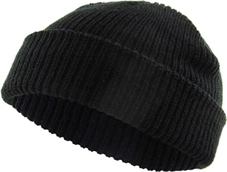 Kbw 282 Blk Classic Warm Winter Fisherman Beanie Hats Acrylic Ribbed Knit Cuff Daily Cap At Amazon Women S Clothing Store