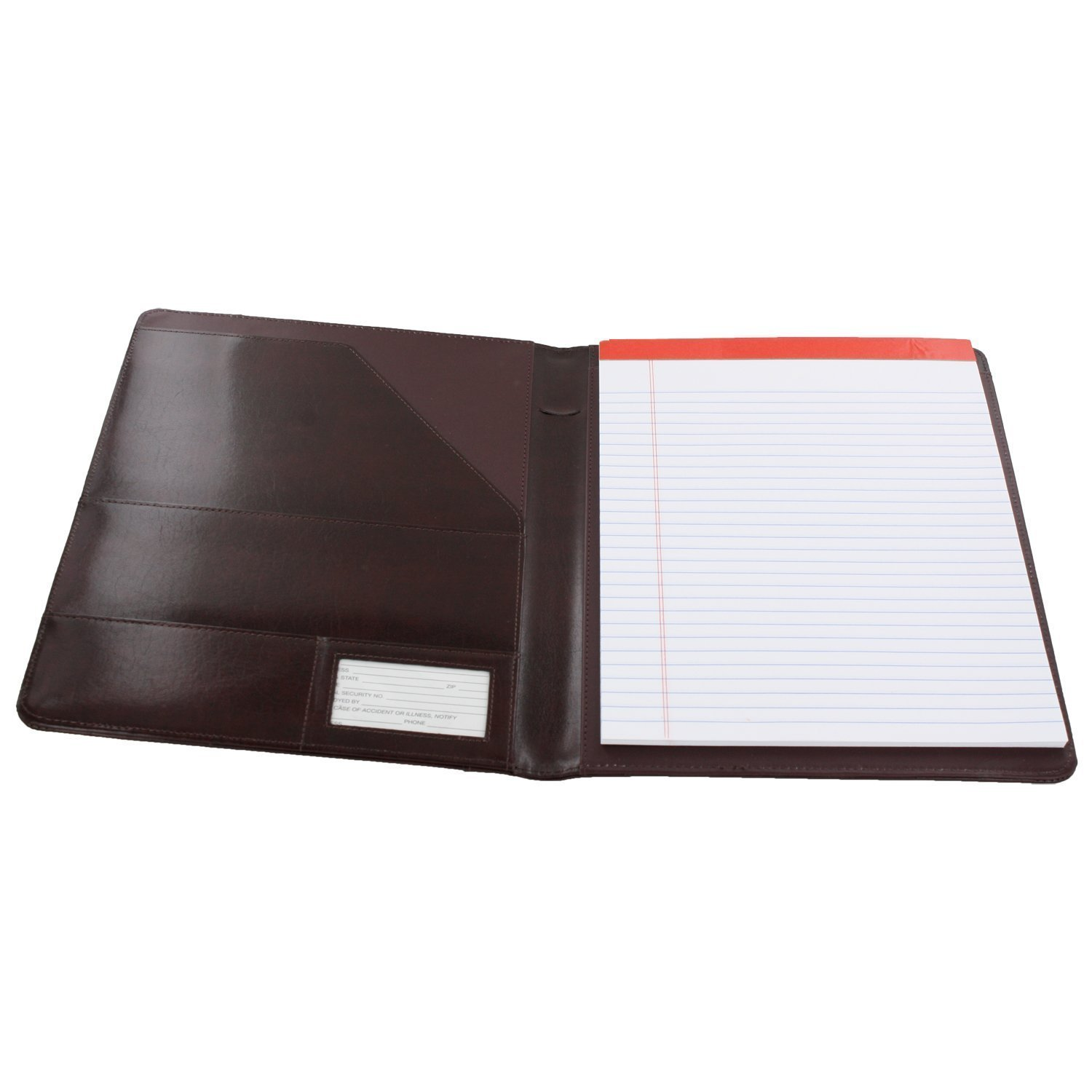 amazon com royce leather shiny leather writing portfolio