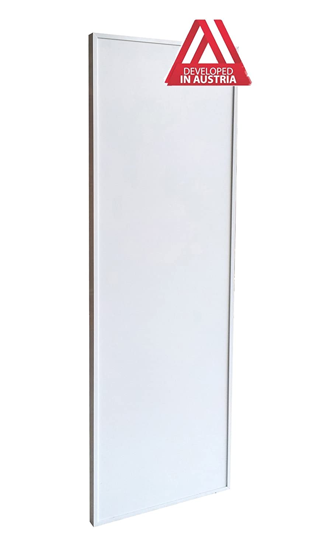 300 Watt Infrarotheizung Aluminium wei/ß mit Rahmen