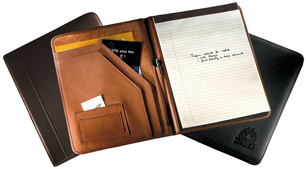 Florentine Napa Deluxe Writing Pad Holder Color: Black