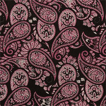 Pre tear drops grey on in Paisley pink Men's Bow Silk black Notch and tied Tie BSwET0