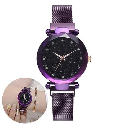Relojes para mujer Pulsera Diamantes de imitación Reloj de pulsera Reloj de cuarzo Reloj para dama