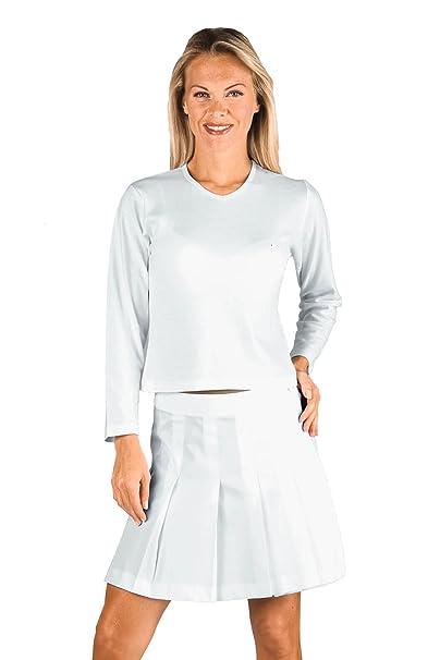 Isacco-Camiseta de manga larga para mujer, color blanco, 100% algodón L: Amazon.es: Ropa y accesorios
