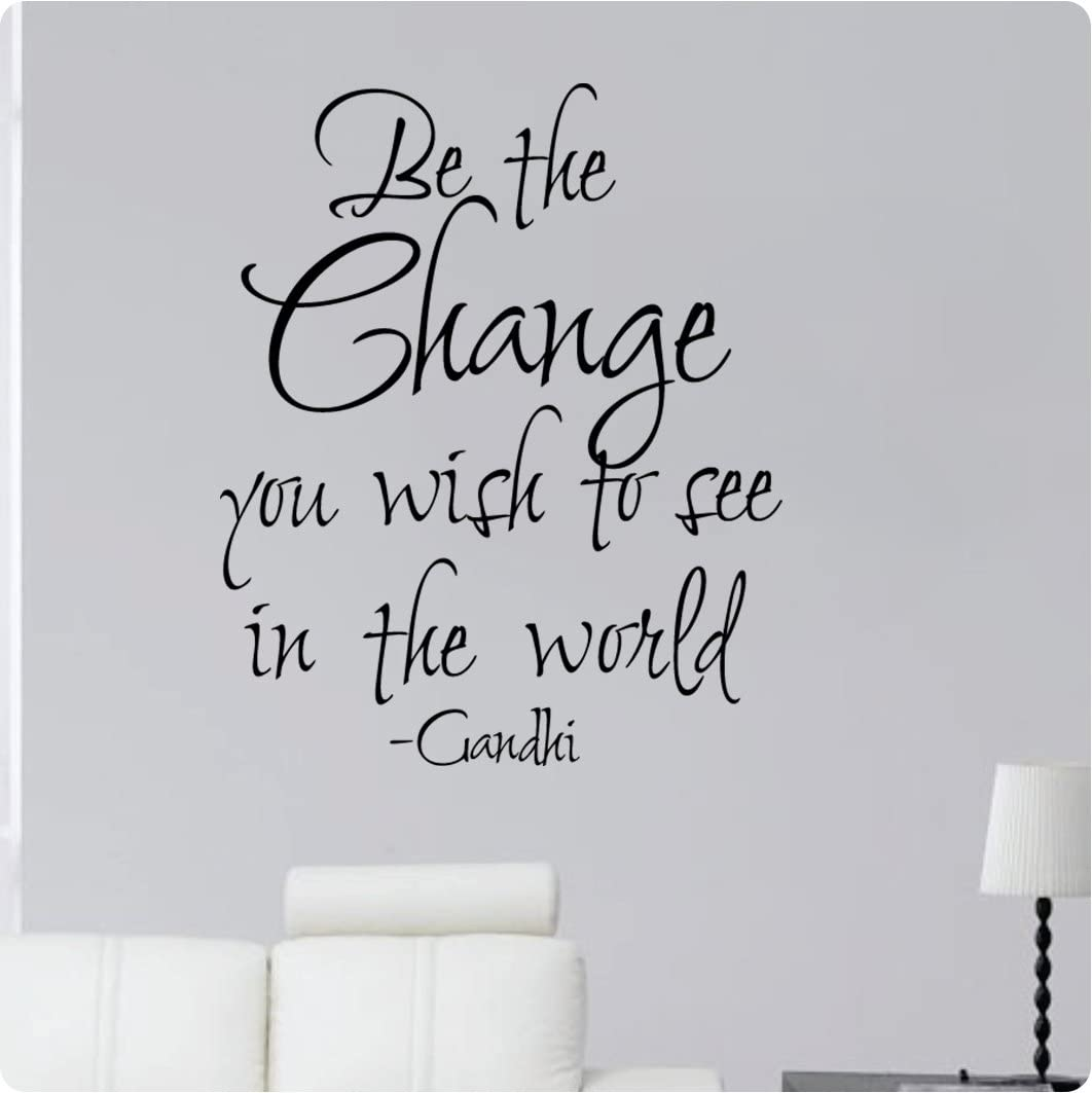 28 Be The Change You Wish To See In The World Gandhi Inspiration Wall Decal Sticker Art Home Décor Home Kitchen
