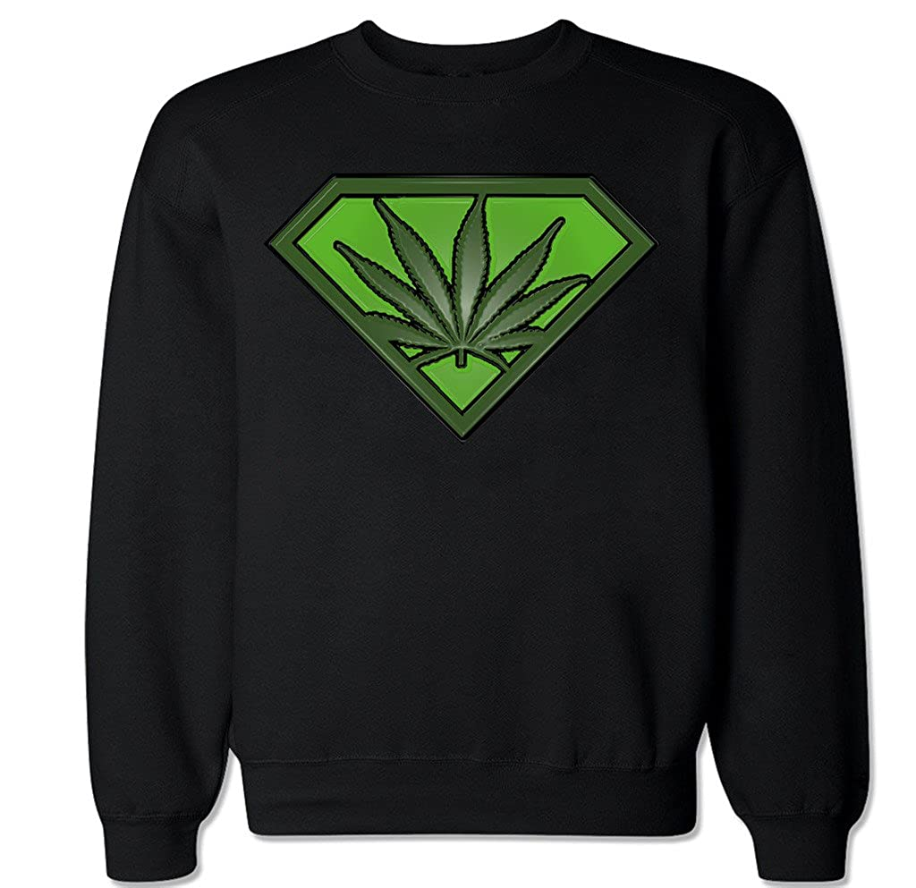 FTD Apparel Men's Weed Man Crew Neck Sweater CNWEEDMAN-parent