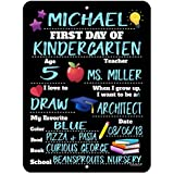 Honey Dew Gifts First Day of School Photo Prop Chalkboard Style Tin Sign - 9 x 12 inch Reusable Easy Clean Back to School - USE Liquid Chalk Markers to Customize