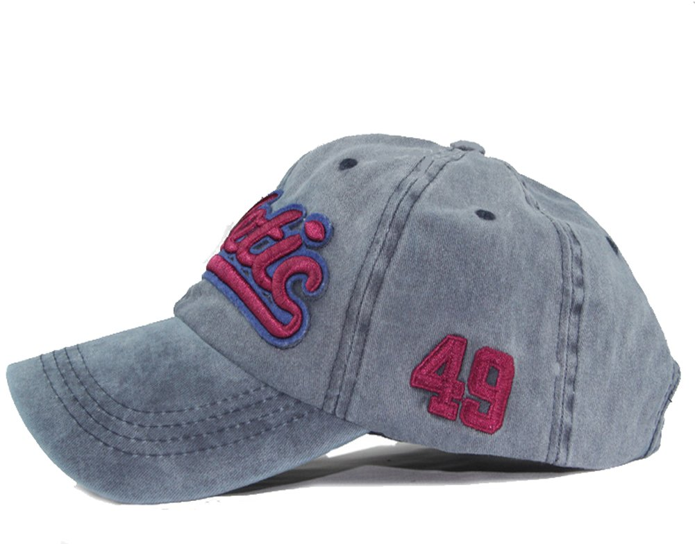 Qchomee Gorra de béisbol de algodón bordado vintage con diseño de capucha, gorra ajustable para adultos, deportes, para camping,…