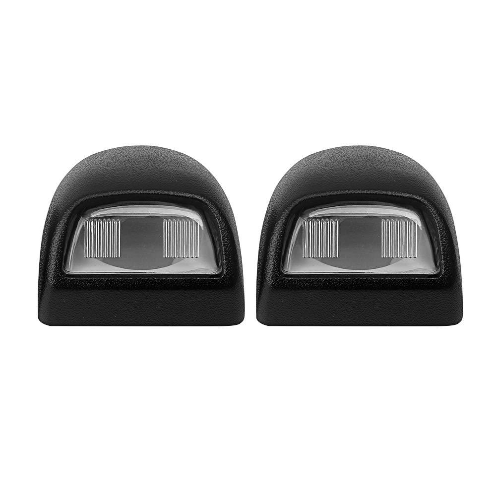 Ai CAR FUN License Plate Light Rear Lamp Lens Set for Chevrolet Silverado 2500 HD Sierra Pickup Escalade, etc