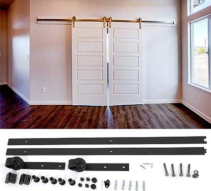 barre de porte coulissante en bois