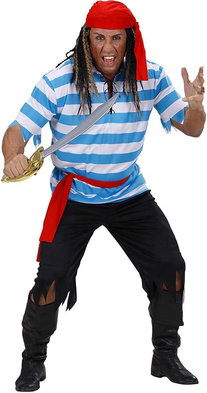 WIDMANN 74782 ? Pirata Caribeño disfraz, de talla M: Amazon.es ...