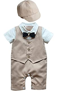 stylesilove Baby Boy Kimono Cardigan and Romper 2-pc Costume