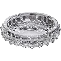 Maharsh Round Glass Smoking Tray for ash Home Office Table Decoration