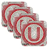 Set 4 Personalized Custom Coaster Water Drops Glossy Liga Peru Peruvian Futbol Soccer Universitario Deportes