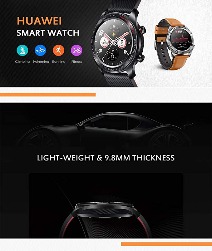 Huawei Honor reloj Magic Outdoor NFC Smart Watch elegante delgado ...