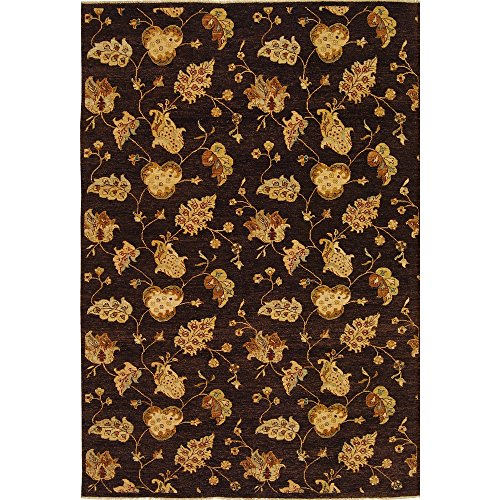 Brown Hand Knotted Wool - Safavieh Agra Collection AGR370B Hand-Knotted Brown Premium Wool Area Rug (9' x 12')