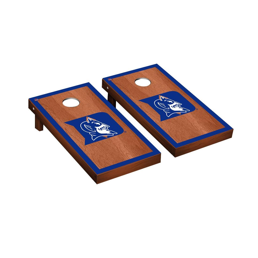 Victory Tailgate Duke Blue Devils Regulation Cornhole Game Set Rosewood Stained Border Version
