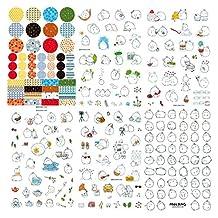 SODIAL(R) 6 pcs / set Korea Molang Stupid Mix Super Cute Pet Rabbit Decorative Diary Stickers
