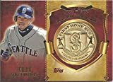 ICHIRO COLLECTIBLE 1ST HOME RUN COMMEMORATIVE MEDALLION/COIN CARD CELEBRATING THE FIRST HOME RUN ON APRIL 06, 2001 AT THE BALL PARK AT ARLINGTON (SEATTLE MARINERS - FREE SHIPPING)